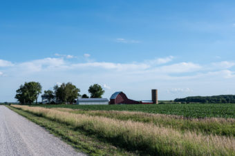 farm with barn in distance